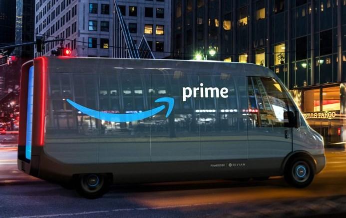 Camion électrique Rivian pour Amazon